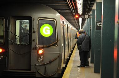 The G train suspended service between the Court Square and Bedford Avenue stations on Tuesday June 11, 2012, due to flooding at the Fulton Street Station.