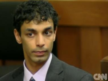 Defendant Dharun Ravi listened as the jury read his verdict in a New Jersey court on Fri., March 16, 2012.