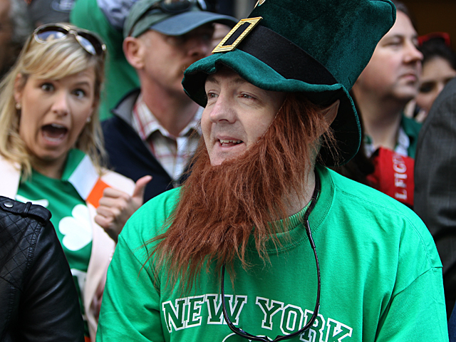 <p>Crowds lined Fifth Avenue for this years St. Patrick&#39;s Day Parade on March 17, 2012.</p>