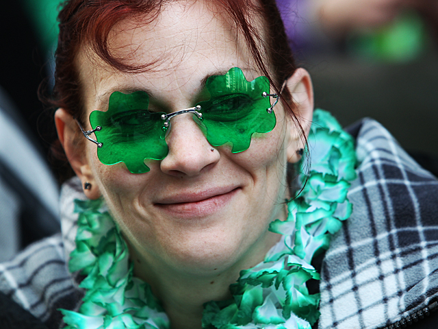 <p>Irish Eyes were smiling at the annual St. Patrick&#39;s Day Parade on on March 17, 2012.</p>