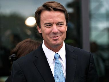 Former U.S. senator and presidential candidate John Edwards arrives at a memorial for U.S. Sen. Edward Kennedy at the John F. Kennedy Presidential Library August 28, 2009 in Boston, Massachusetts. Kennedy, youngest sibling to brothers President John F. Kennedy and Robert F. Kennedy, died of brain cancer August 25.