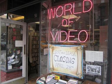 World of Video on Greenwich Avenue will close in April 2012 after 29 years because of a rent hike and drop in business, its owner said March 21, 2012.