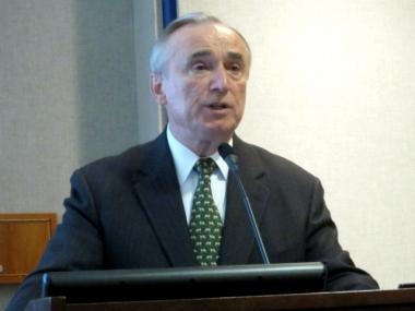 Bill Bratton, former NYPD commissioner, spoke to the Lower Manhattan Marketing Association on Thurs., March 22, 2012.