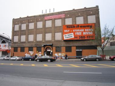 The Tuck-it-Away warehouse at 655 W. 125th Street is due to be acquired via eminent domain by the Empire State Development Corporation as part of Columbia's new 17 acre, $6.3 billion campus expansion.