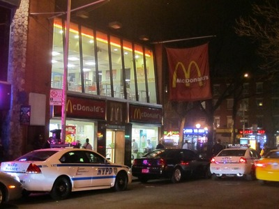 The West 3rd Street McDonald's was the site of violent incidents in May 2011, October 2011 and March 2012.