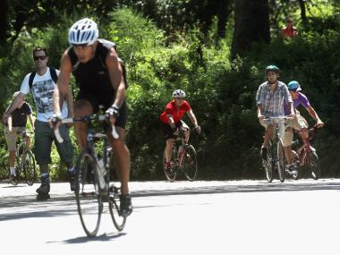 City officials announced a plan Friday to improve the safety for pedestrians and bicyclists in Central Park by expanding the lanes for each.