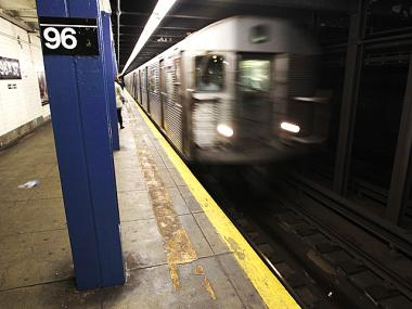 A C train pulls into the 96th Street station on April 1, 2012.