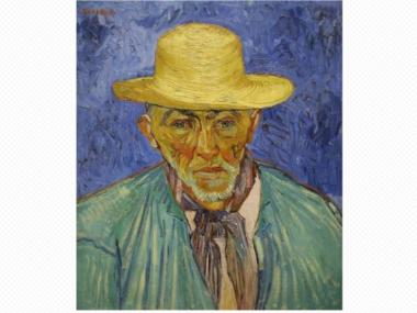 "an analysis of vincent van goghs oil painting portrait of patience escalier Vincent van gogh's ""portrait of a peasant (patience escalier)""  says in a video  about the painting that is available online and at the museum."