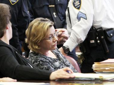 "Alleged ""millionaire madam"" Anna Gristina at Manhattan Supreme Court on Monday April 9."