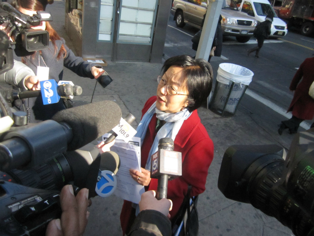 Councilwoman Margaret Chin said women should not have to be afraid while walking around Chinatown.