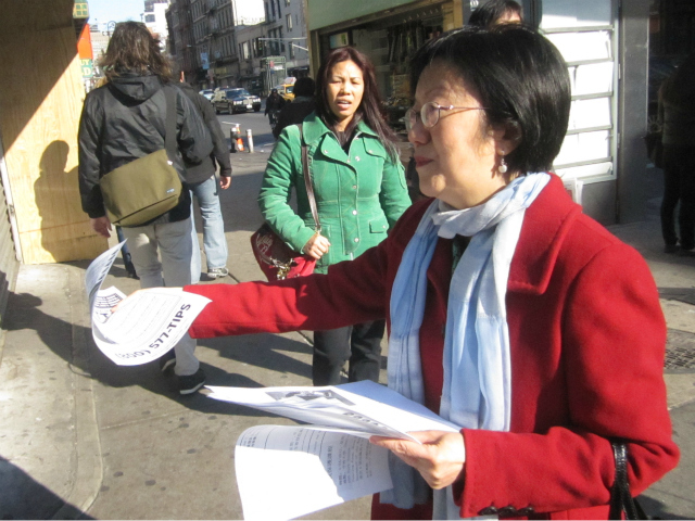 Councilwoman Margaret Chin warned Chinatown women about a well-dressed groper who has struck several Manhattan neighborhoods.