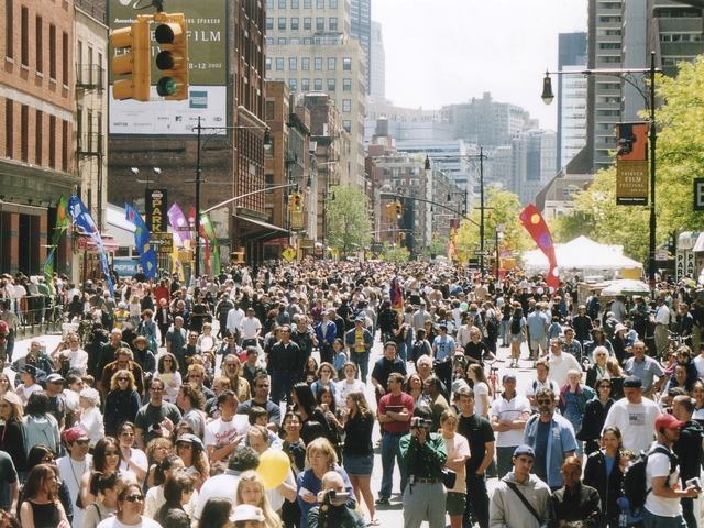 Thousands were expected at the Tribeca Family Street Festival to support lower Manhattan's local economy April 28.