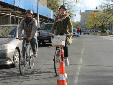 Elizabeth Hamby and Hatuey Ramos-Fermín, a pair of Mott Haven-based artists, organized a series of cycling events during May called