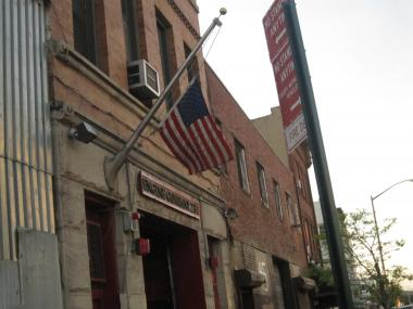 The American flag at Engine 237 was flown at half staff, honoring the death of Richard Nappi.