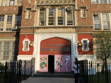 P.S. 63, located at 1260 Franklin Ave., is currently home to an elementary school. The city wants a new middle school to share space there.
