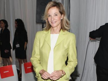 Amanda Burden, the Director of New York City Department of City Planning, attends the groundbreaking for the Whitney Museum's new building on Gansevoort Street on May 24, 2011.