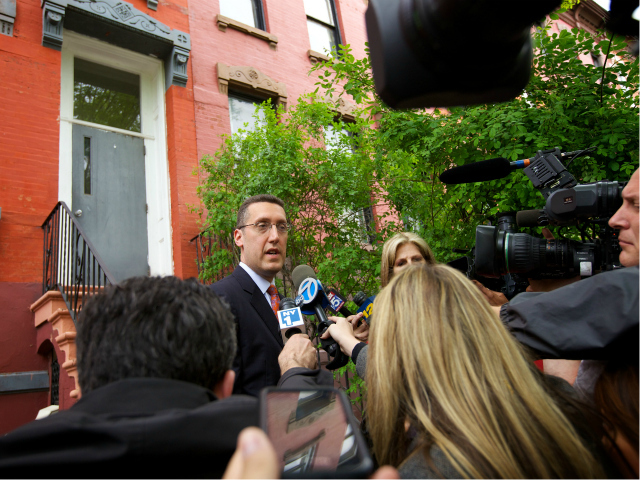 Lawyer Michael C. Farka, who represents Othniel Miller, spoke to reporters April 20, 2012.