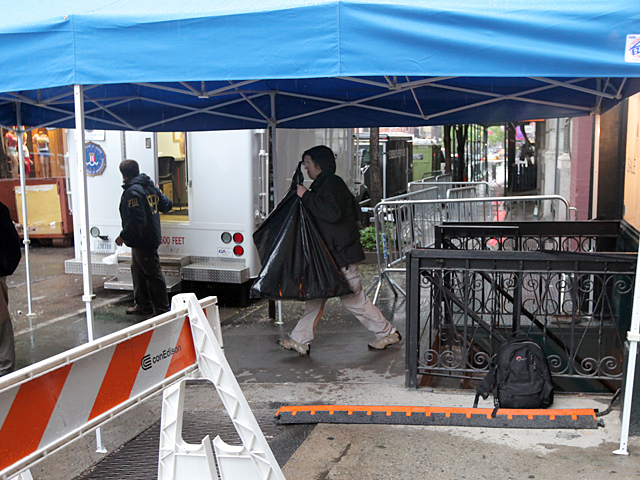 The FBI remove possible evidence from 127 Prince St. during the Etan Patz investigation on April 22, 2012.