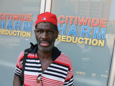 "Edward Harris, a client at CitiWide Harm Reduction since 1996, said the center is ""like home."""