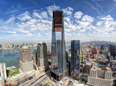One World Trade Center tower could become tallest in New York by the end of April 2012.