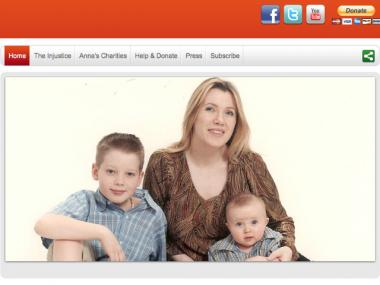 Anna Gristina and her children appear in a picture on a website started to raise money for her $2 million bail.