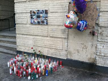 A man was shot to death standing next to a memorial on Webster Avenue in The Bronx for a man slain less than a year earlier.