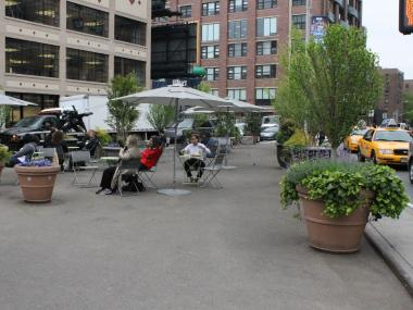 The plaza at West 14th Street and Ninth Avenue could soon be home to a fresh food market.