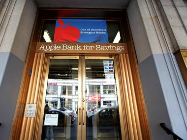 A note-passer robbed an Apple Bank in East Harlem on Saturday, April 28, 2012.