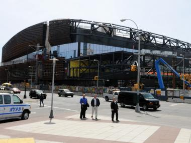 Indoor bike parking will not be ready for the Barclays Center when it opens in the fall.