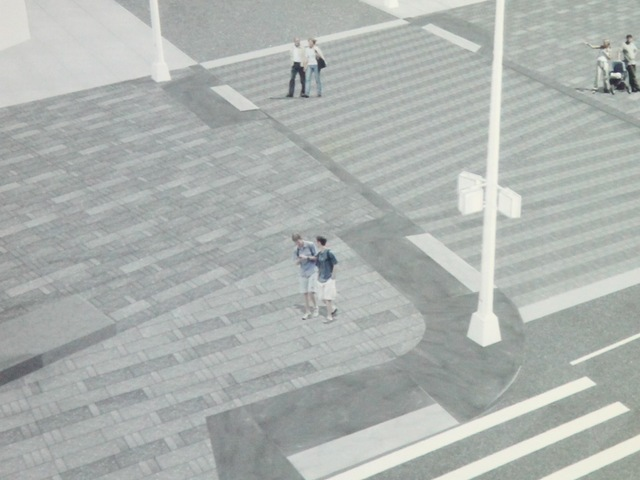 <p>A rendering of a redesigned intersection in Times Square presented to Community Board 5 on April 30, 2012.</p>