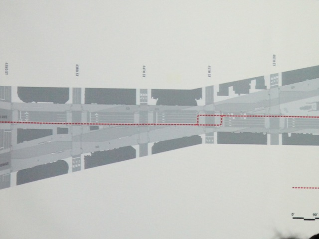 <p>A redesigned bike lane passing through Times Square presented to Community Board 5 on April 30, 2012.</p>