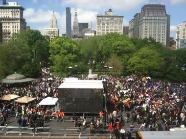 Thousands of protesters at Union Square on May 1, 2012.
