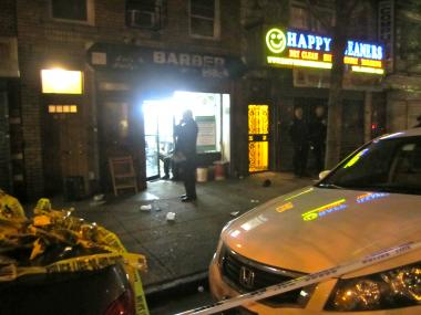 A man was shot on Washington Avenue in Prospect Heights May 1, 2012.