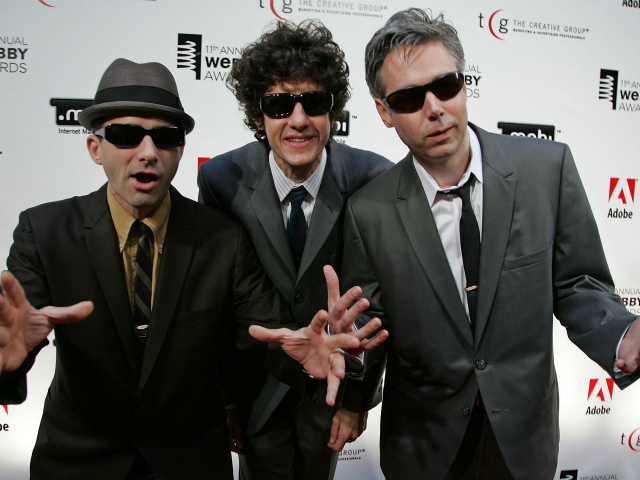 From left, Beastie Boys Adam Horovitz, Mike Diamond and Adam Yauch.