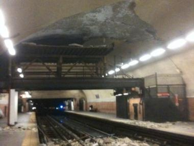 A track fire broke out May 21, 2012 in the 181st Street 1 train station, shown here in 2009.