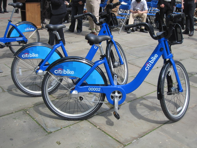 <p>All of the bikes will be painted blue, like these.</p>