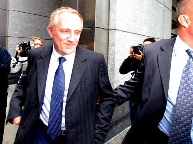 Francois-Henri Pinault leaves Manhattan Family Court on May 7th, 2012.