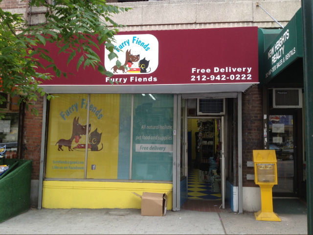 Furry Fiends, at 630 W. 207th St., across the street from its previous storefront, reopened Saturday, May 5, 2012.