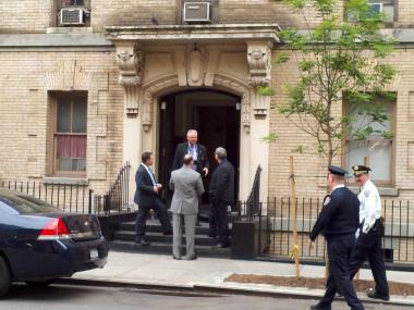 Cops shot a knife-wielding suspect at 408 East 65th St. on May 7, 2012.