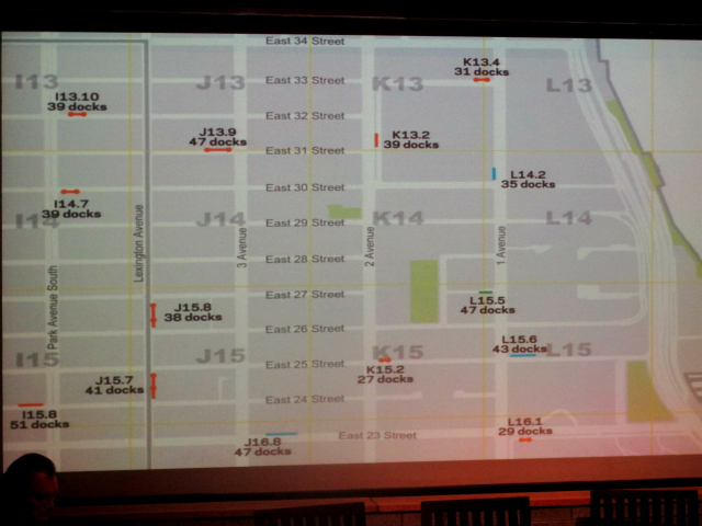 Purple lines indicate the bike-share station will stand on private property.