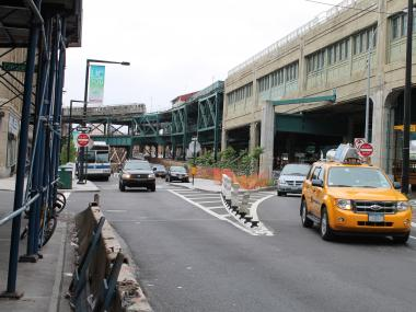 The off-ramp at Queens Plaza South near Crescent Street has been called a