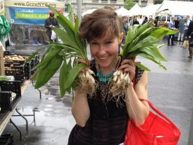 Courtney Novak visited the farmers market in Union Square. She's planning a Bushwick market that opens May 19.