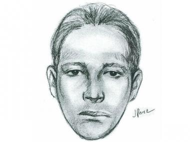 A sketch of the man who allegedly robbed Canarsie residents at gunpoint.