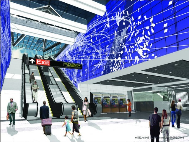 <p>A rendering of Sarah Sze&#39;s installation for the future 96th Street station along the Second Avenue subway.</p>