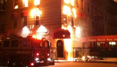 A fire at 47 Furman Ave. in Bushwick at 4 a.m. killed a young woman on Saturday, May 12, 2012.