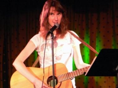 Performer Phoebe Krutz sang at a past Bushwick Book Club event at the Slipper Room.