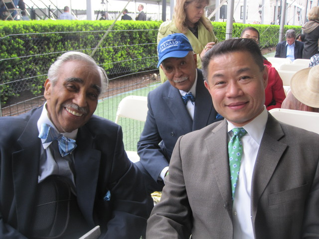 <p>Rep. Charles Rangel, former Mayor David Dinkins and City Comptroller John Liu were in the audience.</p>