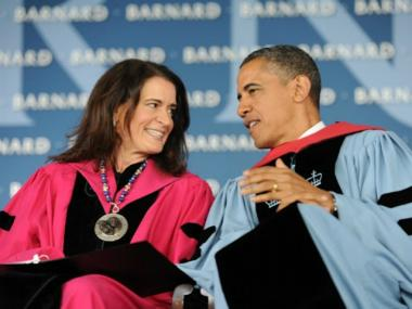 President Barack Obama delivered Barnard College's 2012 commencement address on Mon., March 14th, 2012.