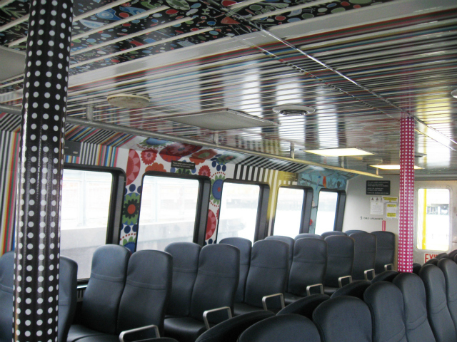 In addition to adding a temporary stop to its free weekend shuttle service, IKEA outfitted its water taxi with printed textiles to create an extension of the Red Hook store.