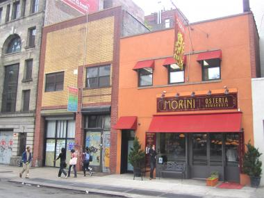 The SoHo Italian restaurant Osteria Morini wants to expand into 216 Lafayette St., the storefront just south of its current location at 218 Lafayette St.
